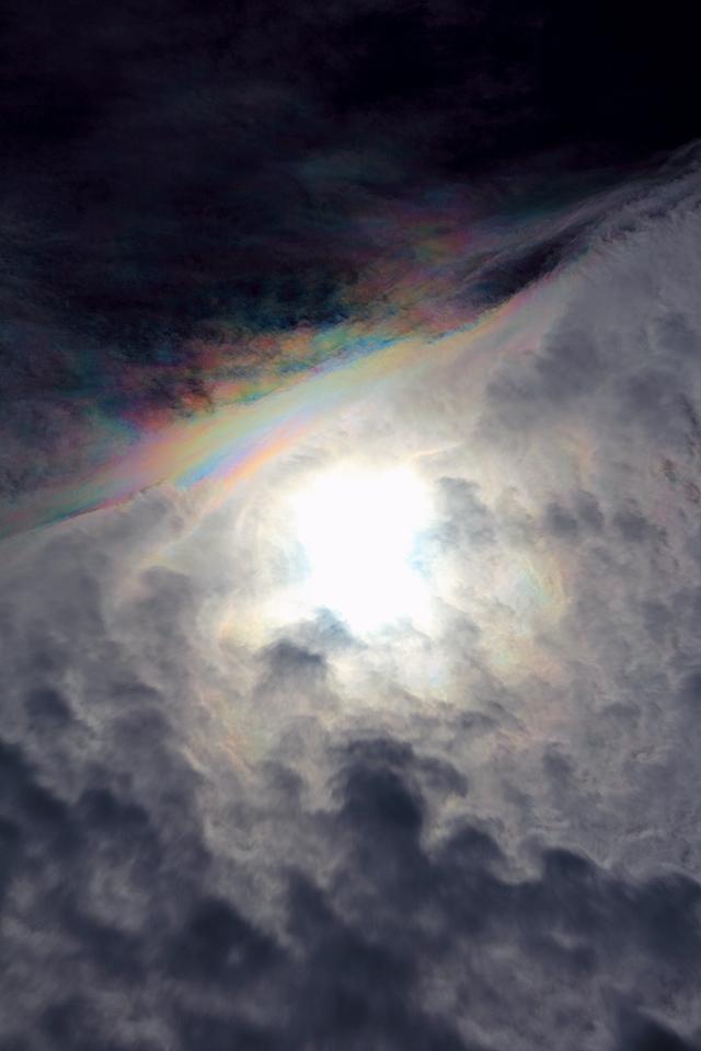 光環を食む蜂の巣状雲 (その2)