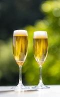 飲み物-緑とグラスビール