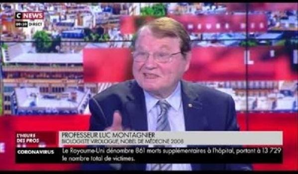 2020年4月16日、フランスのテレビで、ノーベル生理学医学賞を受賞したウイルスの権威、リュック・モンタニエ博士は「新型コロナは人工的に作られたもの」と断言した!