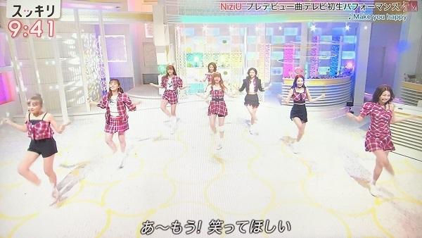 NiziUの歌のパフォーマンス 日テレ「スッキリ」