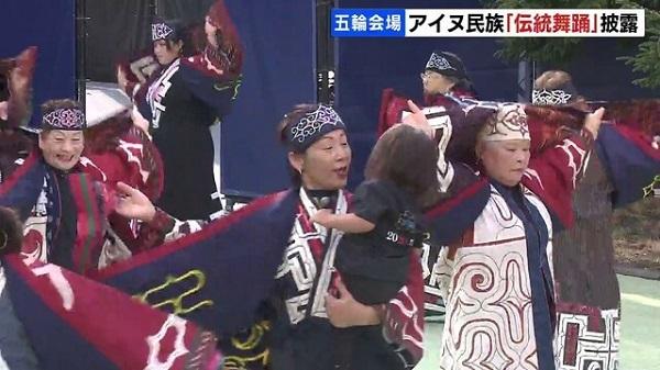 2021080東京五輪でアイヌ嘘踊りを世界発信!競歩とマラソンで出鱈目ダンスを披露・在日朝鮮人やパヨクの利権