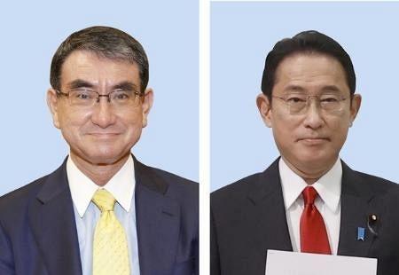 河野、岸田氏決選の公算大