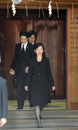 麻生内閣で終戦の日、閣僚として、ただ1人参拝を行った野田聖子を応援します!