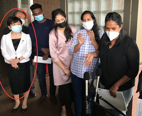 不法滞在者だったウィシュマ・サンダマリは20210525パヨク「病気になれば仮釈放してもらえる」入管で死亡したスリランカ人のウィシュマに指示・福島瑞穂