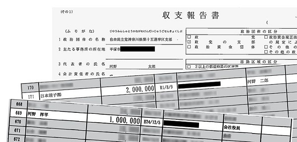 """河野太郎ワクチン相 """"ファミリー企業""""から6700万円の献金を受けていた"""