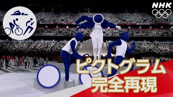 【NHK】開会式 ピクトグラム50個パフォーマンス!   東京オリンピック
