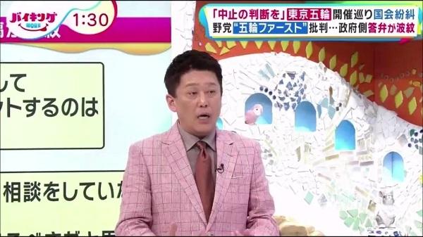 フジテレビで坂上忍は「『コロナで死んだってしょうがない』って言える?」などと、勝手に発言をでっち上げて(捏造して)批判!