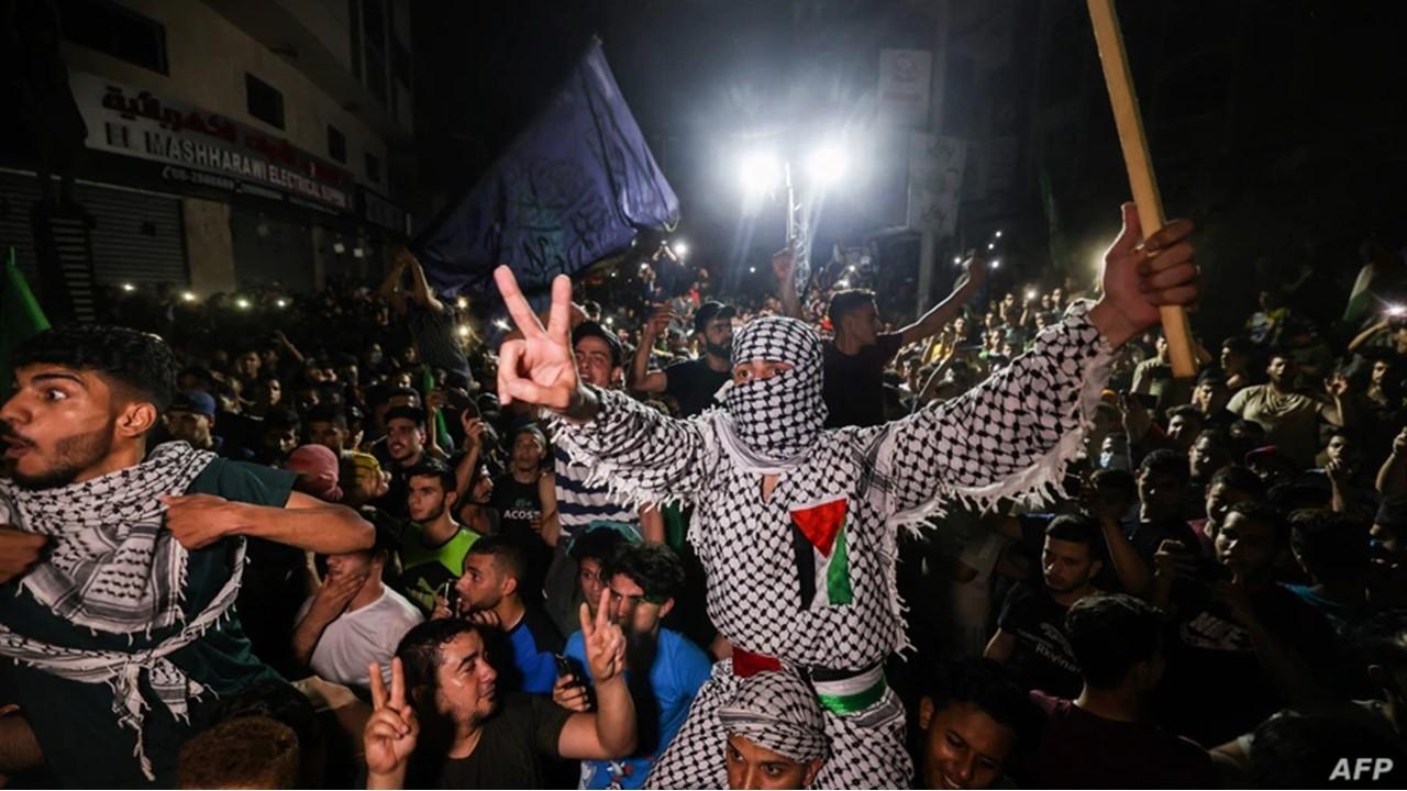 palestinians celebrated in gaza