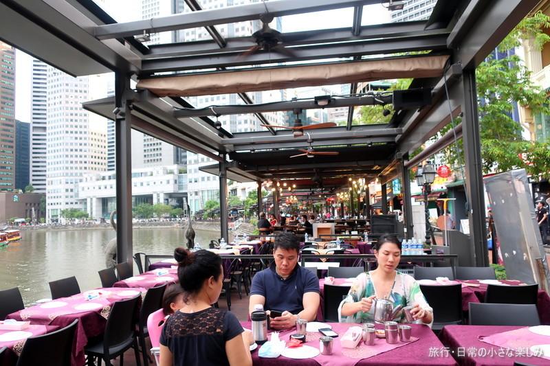 シンガポール ビール 川沿い