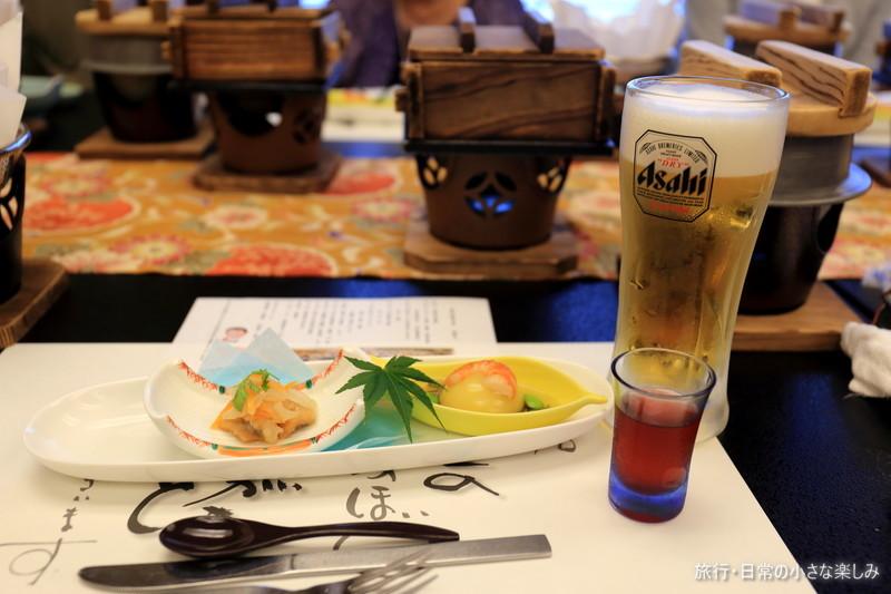 料理旅館 呑海楼 夕食 赤穂塩 タイ