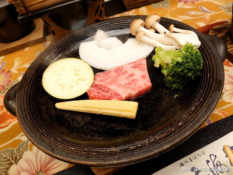 料理旅館 呑海楼 夕食 肉