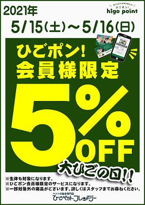 【ポスター】サービスデー(5OFF)編集後