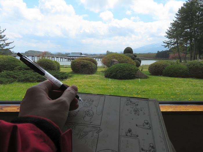 鶴の舞橋と描くヒト