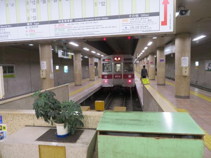 長野電鉄の長野駅ホーム