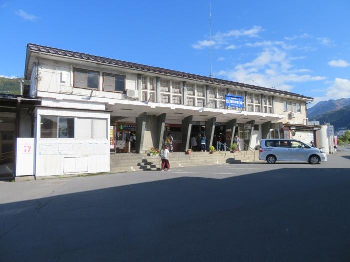 湯田中駅を後に