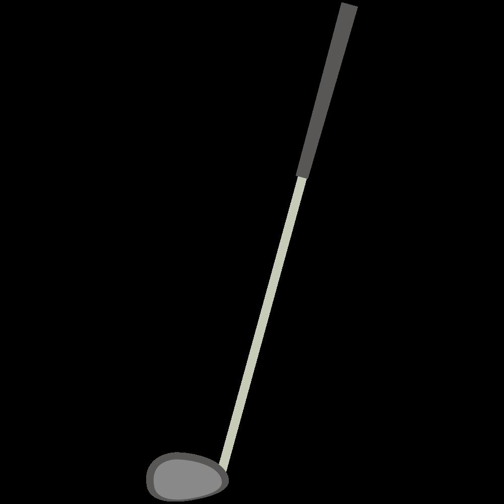 シンプルでフラットなゴルフのドライバーの素材