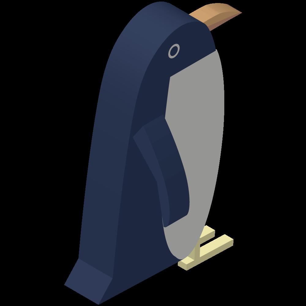 シンプルでかわいいアイソメトリックのペンギンの素材