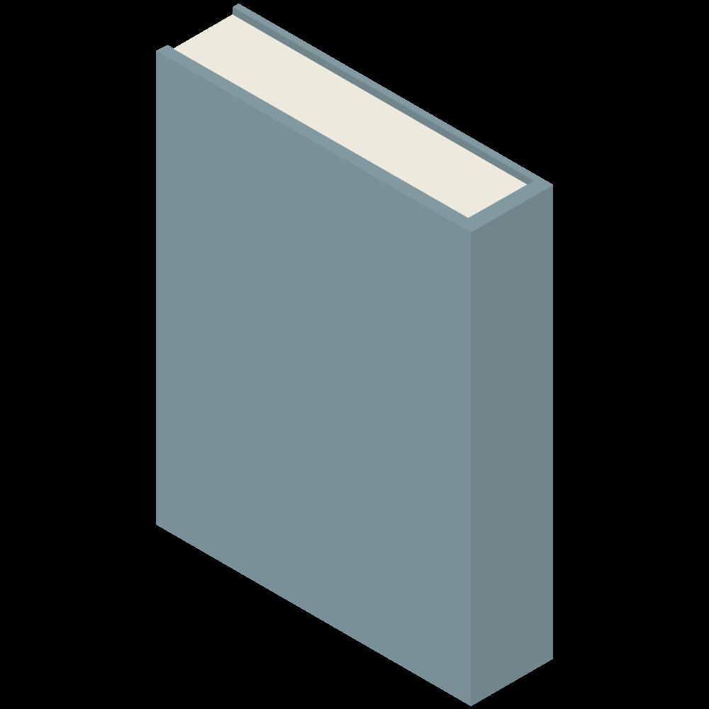 シンプルでかわいい3Dアイソメトリックの青いブックのアイコン