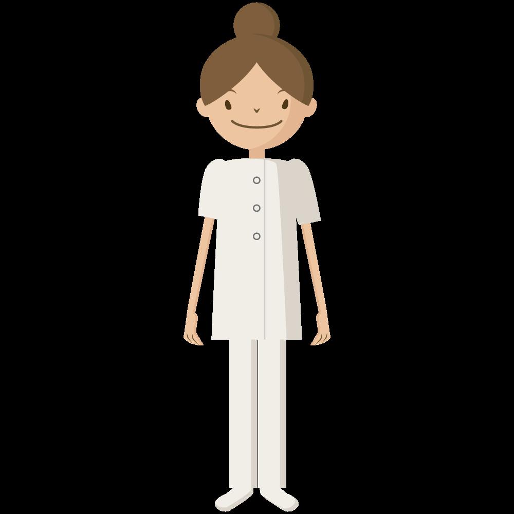 シンプルでかわいい医療従事者の女性ナースのアイコン