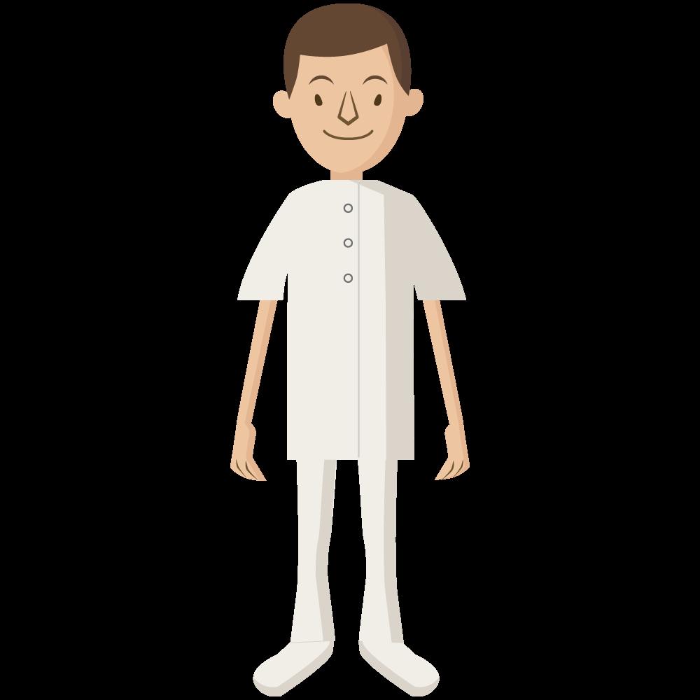 シンプルでかわいい医療従事者の男性ナースのアイコン