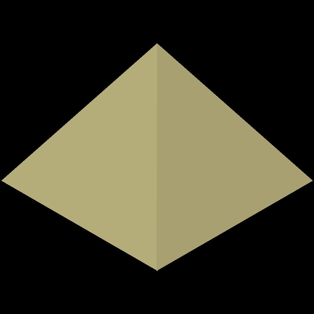 シンプルでかわいいアイソメトリックのエジプトのピラミッドのイラスト素材