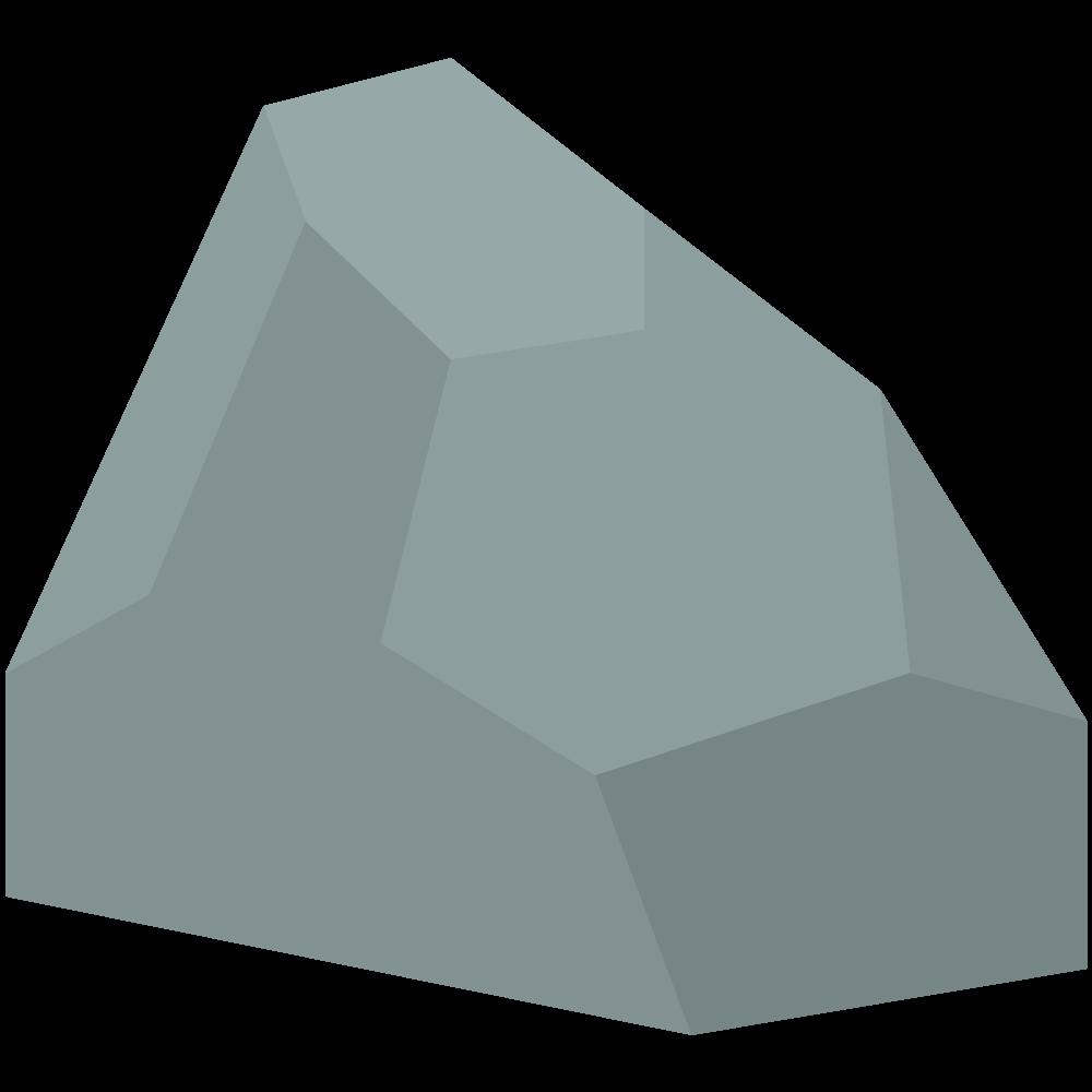 シンプルでかわいいアイソメトリックの石の素材