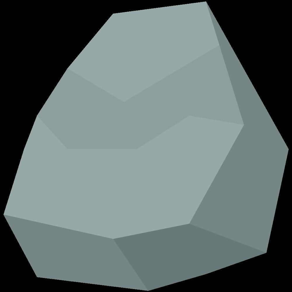 シンプルでかわいいアイソメトリックの岩の素材