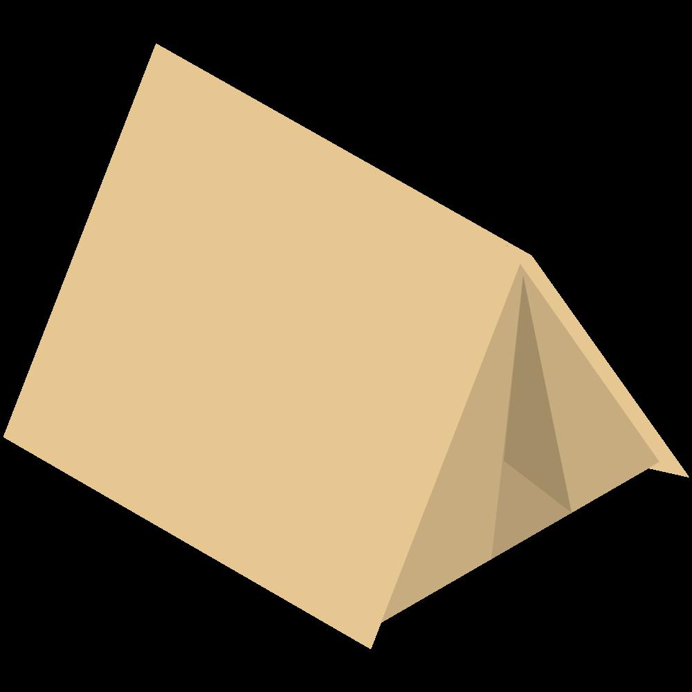 シンプルでかわいいアイソメトリックのキャンプのテントの素材