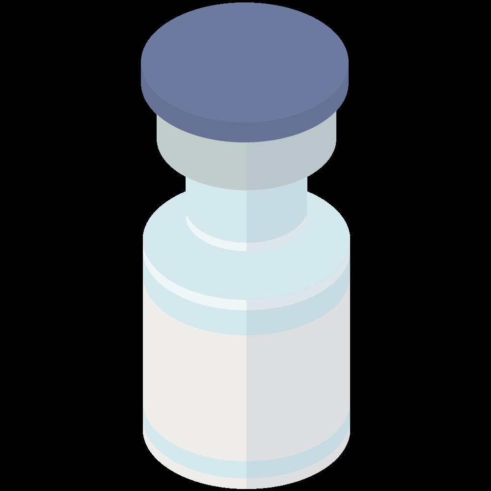 シンプルでかわいい3Dアイソメトリックのファイザー製pfizer_covid-19のコロナワクチンアイコン