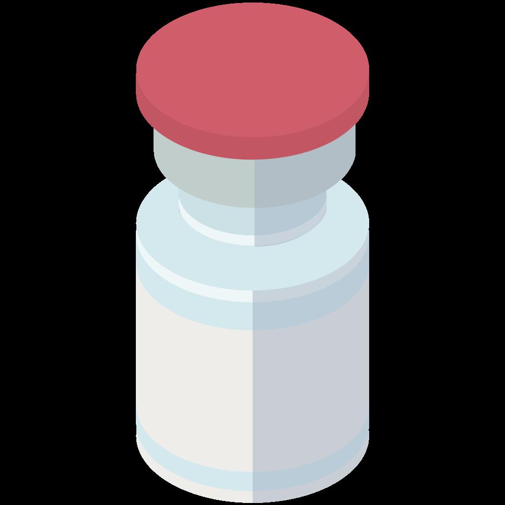 シンプルでかわいい3Dアイソメトリックのモデルナ製moderna_covid-19のコロナワクチンアイコン