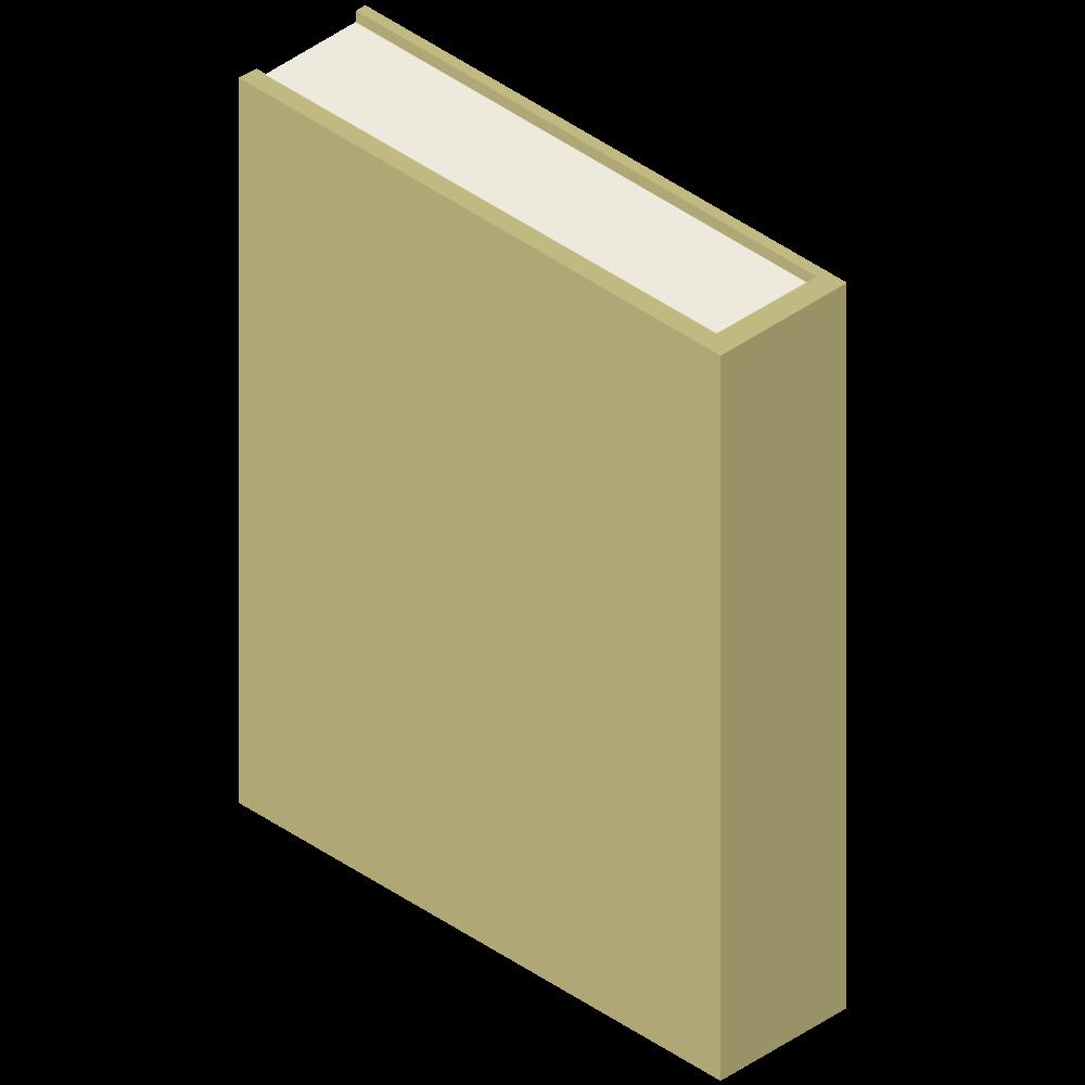 シンプルでかわいい3Dアイソメトリックの黄色いブックのアイコン