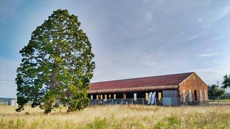 鹿島海軍航空隊跡地の倉庫