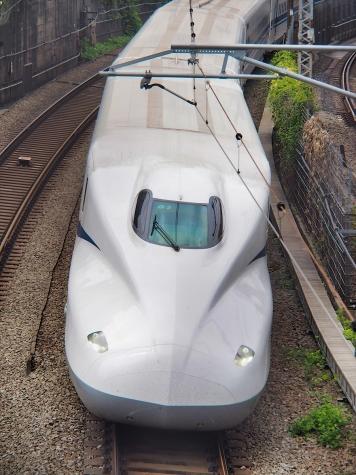 東海道新幹線 N700A G3編成【御殿山の跨線橋】