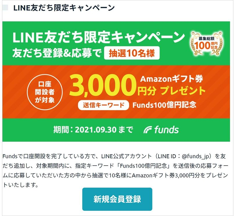 Funds100億円突破09