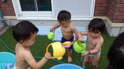 りす組 水遊び1