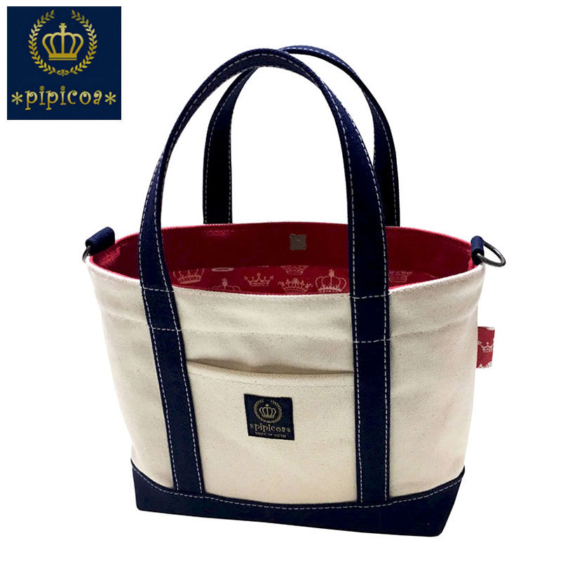 【*pipicoa*Red-Crown-Tote-Bag】*ピピコア*「レッドクラウン」トートバッグ-S-1