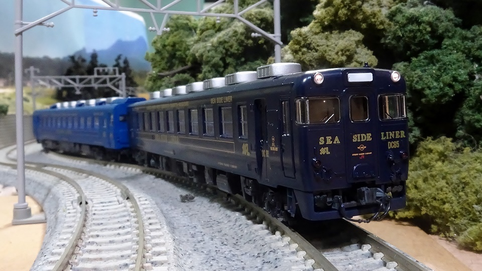キハ58系 快速シーサイドライナー・紺色