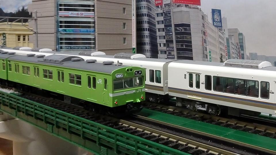 JR 103系 JR西日本仕様・混成編成・ウグイス