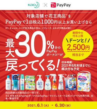 花王×PayPayキャンペーン 30%PayPayバック