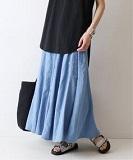 製品染め切り替えスカート